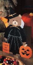 Plastic Canvas Halloween Sew Set Bear Tissue Cover Scissors Towel Holder... - $7.99