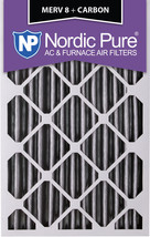 Nordic Pure 20x25x4 (3 5/8) Pleated Plus Carbon Air Filters MERV 8 2 Pack - $47.82