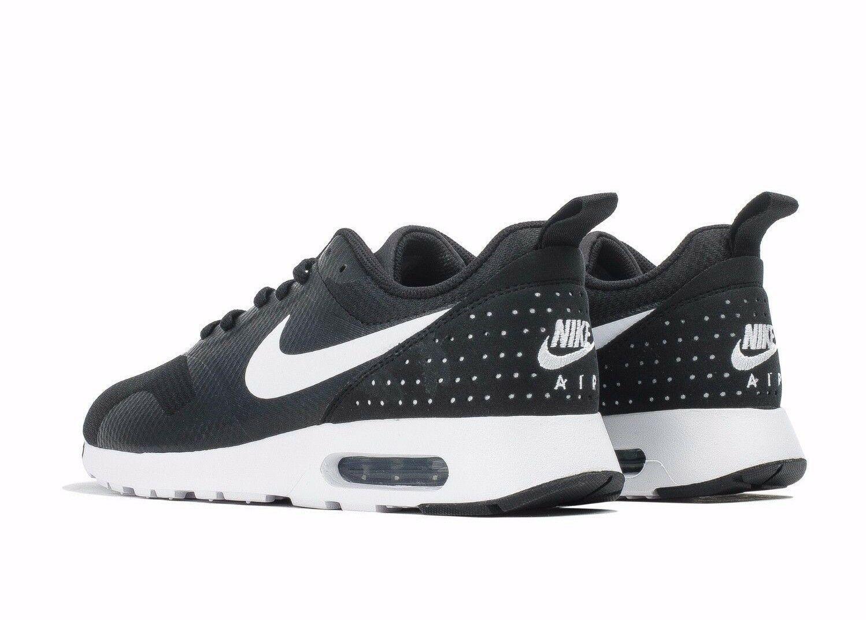 New Nike Air Max Tavas 705149-009 Black/White Running Shoes Men