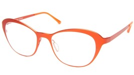 NEW PRODESIGN DENMARK 1290 c.4521 ORANGE EYEGLASSES FRAME 51-18-135 BI B... - $98.98