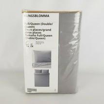 Ikea Kungsblomma Full/Queen Duvet Cover & 2 Pillowcases Gray Yellow 504.... - $52.09