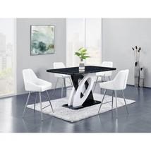 Global Furniture D964BT W/D1067BS -WH Faux Marble Top Table PU Bar Set 5 Pcs