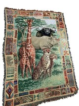 Pure Country Weavers Tapestry Throw Blanket Parker Fulton African Plains... - $54.45