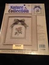 Cross Stitch Pink Rose Nature Collection New - $20.78