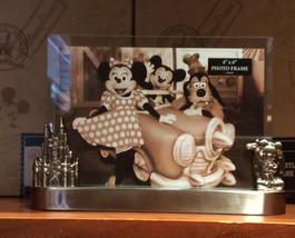 "Disney Parks Mickey/Castle Desk Frame HOLDS A 4""X6"" photo NEW - $31.52"