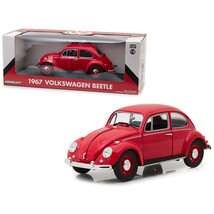 1967 Volkswagen Beetle Right Hand Drive Candy Apple Red 1/18 Diecast Model Car b - $60.08