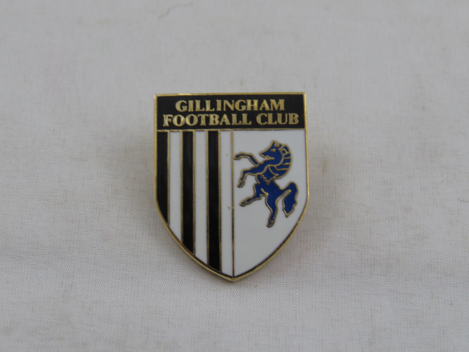 Vintage British Soccer Pin - Gillingham Football Club -Team Crest - Inlaid Pin