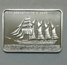 Juan Sebastian De Elcano Silver art ingot bar Colonial Mint Lot# N 515