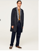Zara Join Life Collection Trench Coat Bnwt L Black - $92.57
