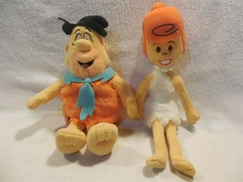 Flintstones Cuddle Factory Stuffed Plush Bean Bag Set Fred & Wilma Flint... - $11.95