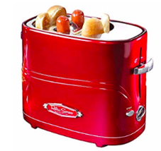 Nostalgia Hot Dog Toaster, Red - £31.25 GBP