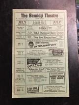1940s Bemidji Theatre movie advertising list W F Bender Mgr July Program  - $49.99