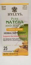 2 Packs Of Hyleys 100% Natural Matcha/Sencha Tea Turmeric Flavor 25 Ea 1/23 DG2 - $11.99