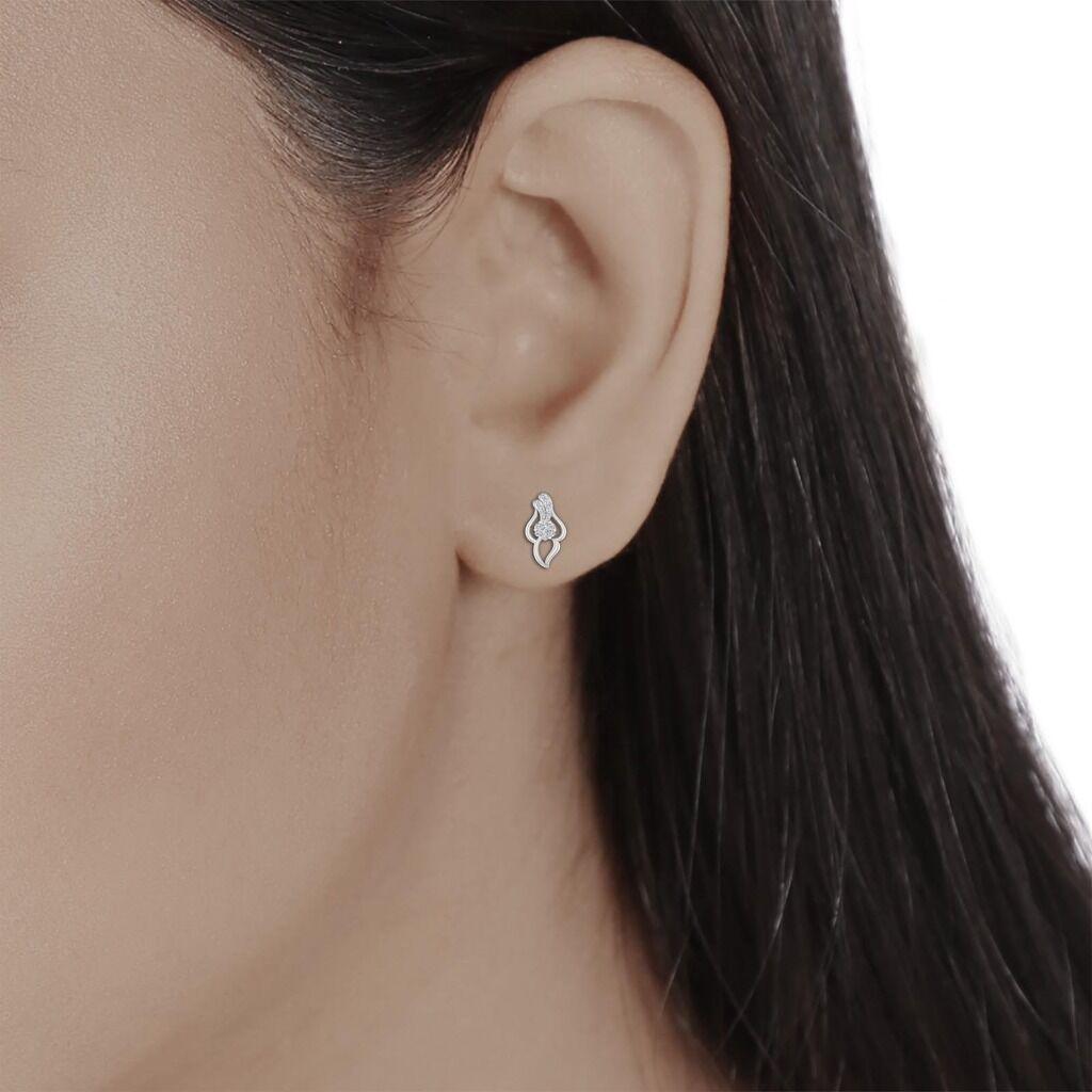 0.25CT Certified DIAMOND 14kt white gold Stud earrings Jewelry