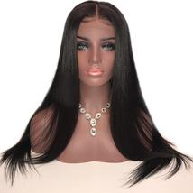 13x6 Silky Straight Lace Front Human Hair Wigs With Baby Hair Natural Ha... - $62.62+