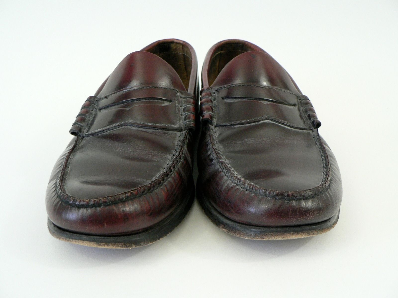 60a83108364 GH Bass   Co Weejuns Cordovan Leather Penny Loafers Slip Ons 7 D Shoes Made  USA