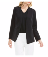 NWT VINCE CAMUTO BLACK OPEN FRONT CAREER JACKET BLAZER SIZE 14 $139 - $35.62
