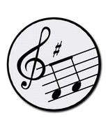 Music Notes Treble Clef Round Computer Mouse Pad Mat Mousepad New - $11.69