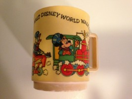 Vintage Mug 1970s WALT DISNEY Production Mickey Mouse DEKA Resin Kid Cups Glass  - $8.66