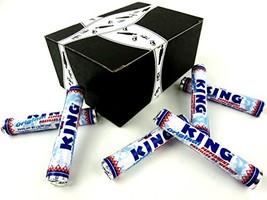King Original Peppermints, 1.55 oz Rolls in a BlackTie Box Pack of 6