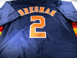 ALEX BREGMAN / 2019 ALL-STAR / AUTOGRAPHED HOUSTON ASTROS BLUE CUSTOM JERSEY COA