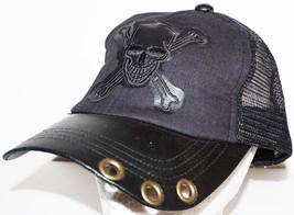 PUGS GEAR - SKULL OR PIRATE BLACK ADULT HAT CASUAL WEAR TRUCKER MESH STY... - $9.78
