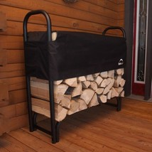 Firewood Rack-in-a-Box Heavy Duty Rack With Cover, 4' - $55.93