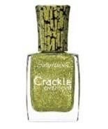 Set of 4 Sally Hansen Crackle Overcoat Nail Polish 11 Sage Smash Green G... - $13.99