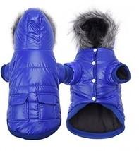 Enjoying Winter Puppy Coat - Dog Winter Coat Waterproof Warm Dog Hooded Coat - - $19.37