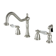 "KB1798WLLBS 8"" to 16"" Widespread Kitchen Faucet with Brass Sprayer, SN - $246.98"
