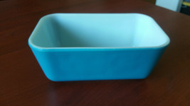 Antique Pyrex Blue Butter Dish Milk Glass Vintage Mid Century Clean Rare... - $14.92