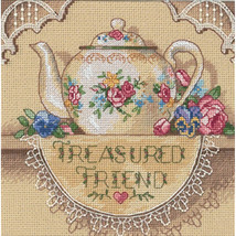 "Dimensions/Gold Petite Counted Cross Stitch Kit 6""X6""-Treasured Friend Teapot (1 - $15.80"
