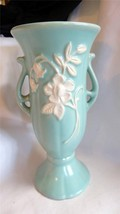 Fantastic Weller Pottery Since 1872 Pottery Green with Lily Vase - $85.00