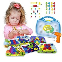Kidtastic Building Board Drill Set 203 pcs STEM Toys for 4 Years Old, Sc... - $35.60