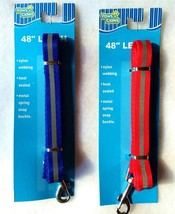"""Dog Leash Lead Stripe 48"""" NEW Paws N Claws Pet Puppy Pup Choose 1 - $9.99"""