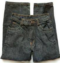KANI Gold Black Jeans Size 10 Boys Designer Straight Baggy Design Pocket - $13.86