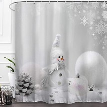 Baccessor Happy Snowman Christmas Shower Curtains,Fabric Shower Curtains... - $42.99+