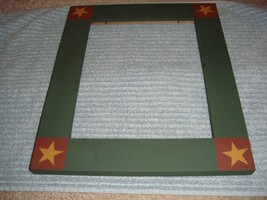Dark Green Wooden Frame For Cross Stitch Projects - $25.99
