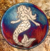Mermaid Plate Raku Pottery NEW - $21.78