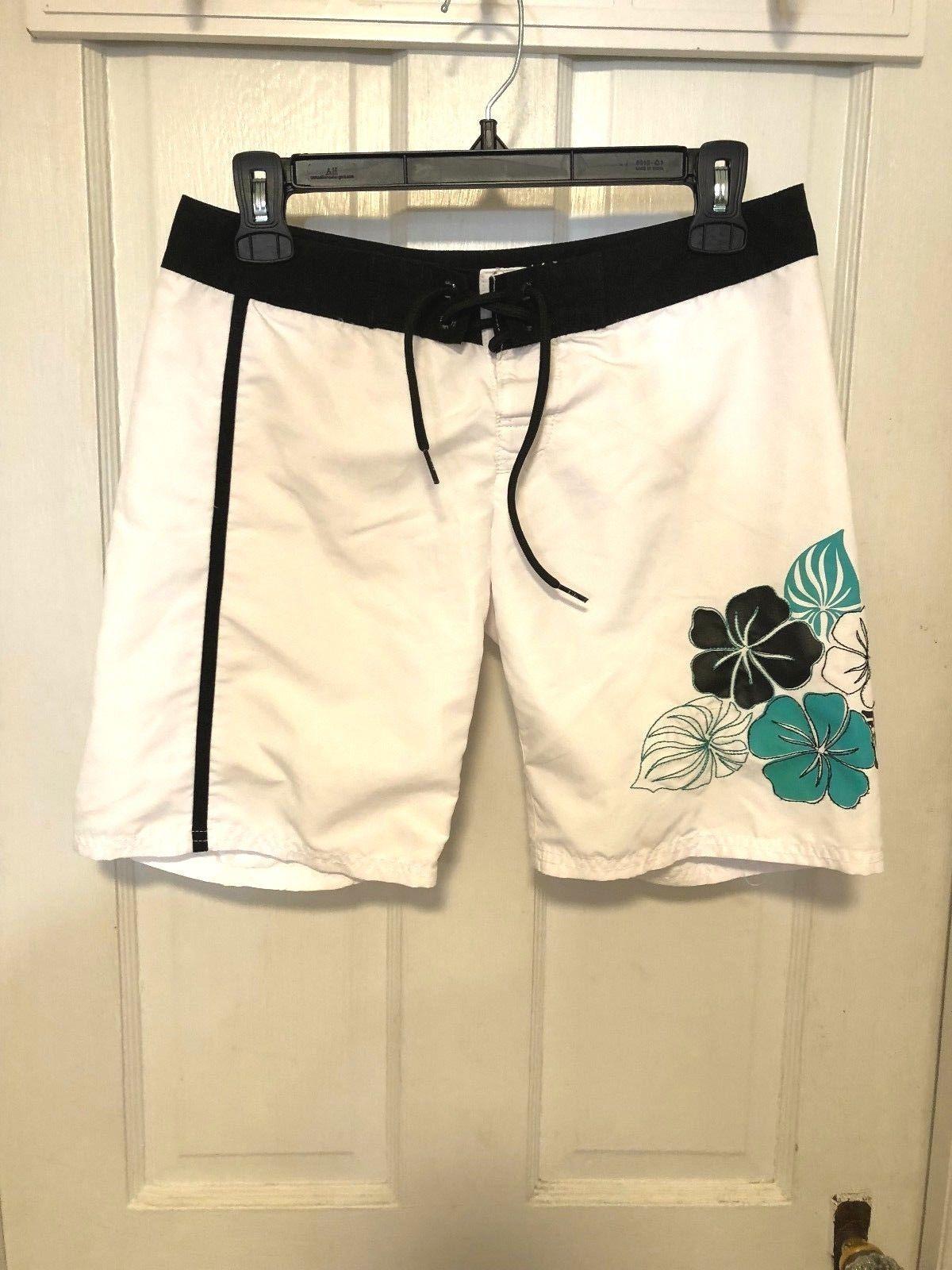db5fc26f53 LILU Boy's Swimming Trunks White w Black and 50 similar items