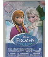 Disney Frozen Tattoos & Stickers - 31Temporary Tattoos + 26 Stickers - $6.85