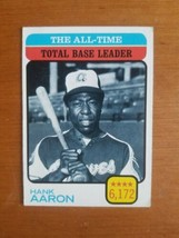 1973 Topps #473 Hank Aaron ALL-TIME Total Base Leaders - $14.85