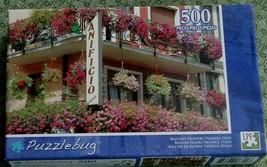 BRAND NEW FACTORY SEALED 500 PiecePuzzlebug Jigsaw Puzzle Balcony Flower... - $5.93