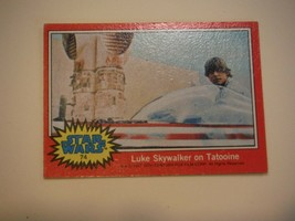 Star Wars Series 2 (Red) Topps 1977 Trading Card # 74 Luke Skywalker on Tatooine - $1.49