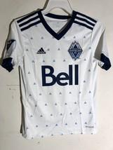 Adidas Youth MLS Jersey Vancouver Whitecaps Team White sz XS - $12.86