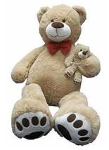 Giant Teddy Bear & Baby Stuffed Animal Plush Toys Birthday Gift Brown - $62.79