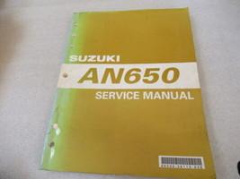 Suzuki 2004 AN650 Service Manual P/N 99500-36110-03E - $13.08
