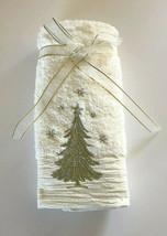 Embellished Christmas Tree Embroidered Fingertip Towels Holiday Set of 2... - $33.54