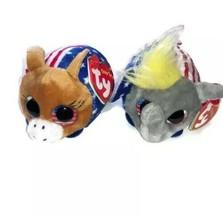 Teeny Tys Ty Vote President Elephant Donkey Set New, Mint Tag *Limited Edition* - $4.94