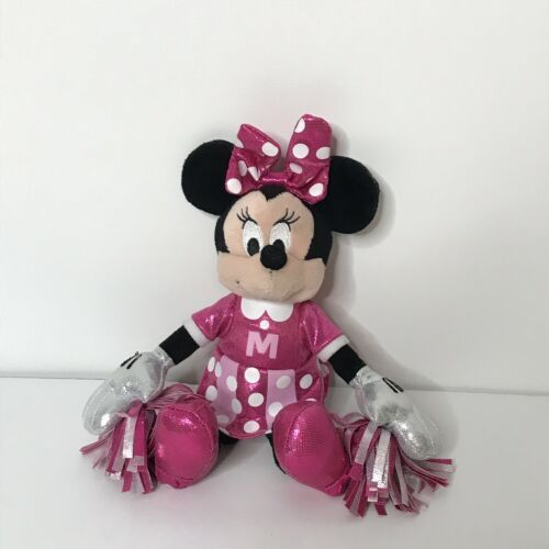 "Ty Sparkle Minnie Cheerleader Disney Beanie Plush Stuffed Animal 9"" Tall"